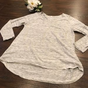 4/$25 Lularoe | grey heathered long sleeve Lynnae